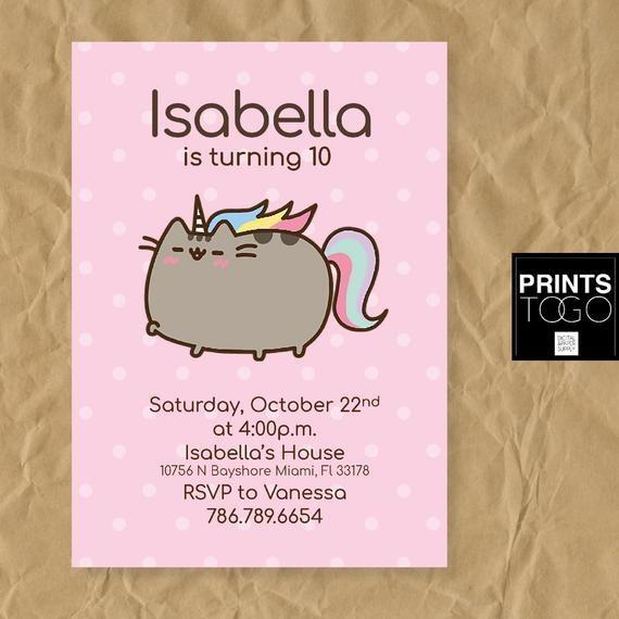mermaid cat invitation cat birthday cat invite cute cat