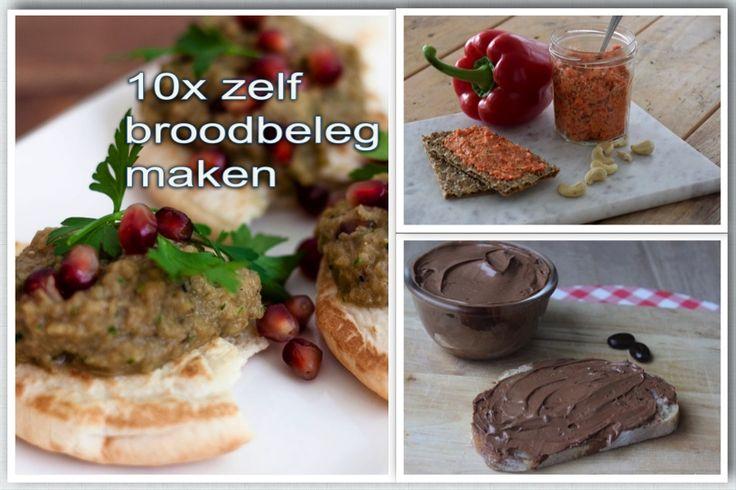 10x zelf broodbeleg maken. Dan weet je precies wat erin zit en vooral ook: wat er NIET in zit. Lekker voor brood, cracker of toastje.