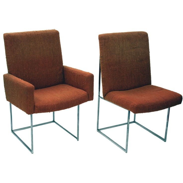 set of 16 floating dining chairs by milo baughman