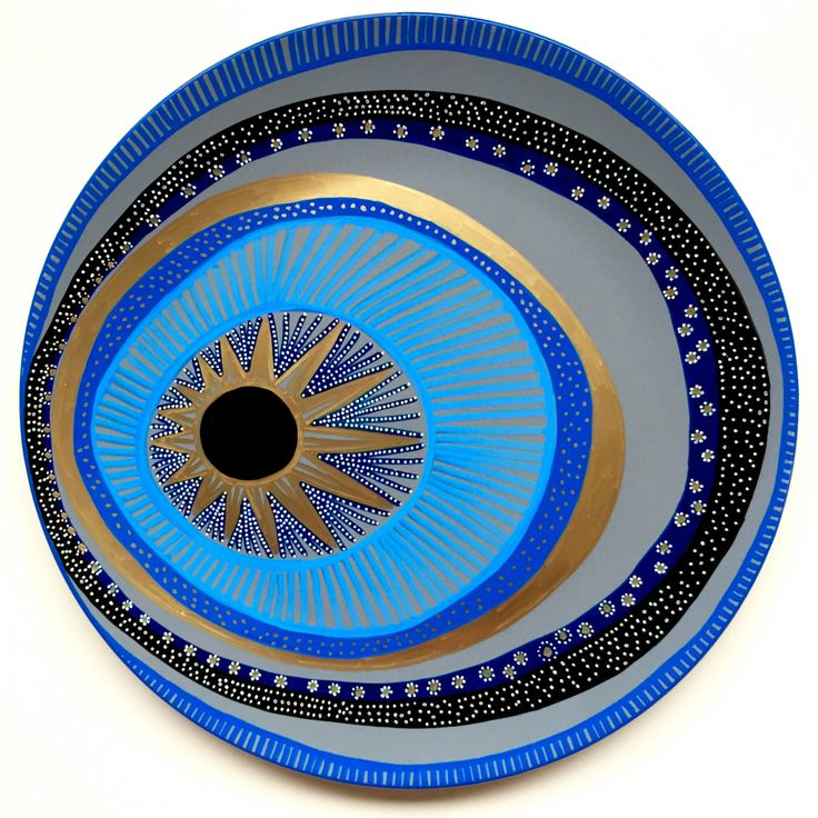 Hip, chic, artsy version of evil eye. I like how it's bold but not obviously a symbol