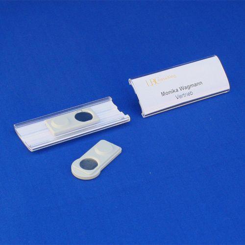 Namensschild 75x20mm Acryl mit Magnet - #Namensschilder für eine persönliche Ansprache.