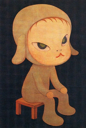 Yoshitomo Nara. This reminded me of Jessy. My sweet grumpily little elf.