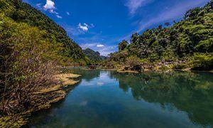 Stunning Karst scenery in Phong Nha-Ke Bang national park.