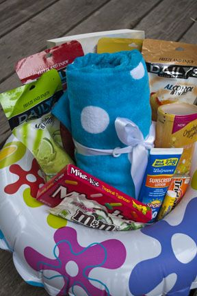 Beach towel, Book,Frozen slushy drinks, Crystal Light in summery flavor, Tropical candy, Sunscreen   Lip balm with sunscreen