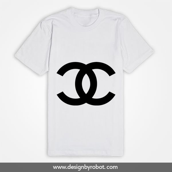 White Chanel Logo T Shirt