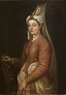 "Princess Mihrimah Sultan was the daughter of the Ottoman Sultan Suleiman I and his Ruthenian wife, (1558) Hürrem Sultan. She was born in Constantinople. Mehr-î-Mâh means ""Sun (lit. clemency, compassion, endearment, affection) and Moon""., from iryna with love"