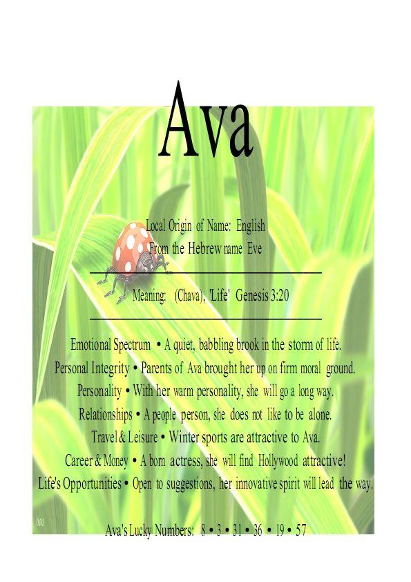 Ava baby names