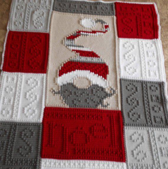NOEL pattern for crocheted blanket