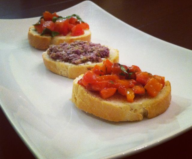 - Tomato and Basil Crostini- Goat Cheese and Olive Tapenade Crostini ...