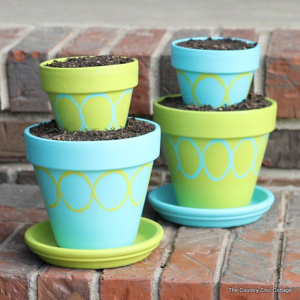 DIY Tiered Planter Pots for your garden