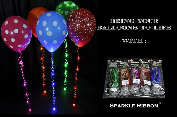 Sparkle Walkers.  Beautiful balloons with Stunning Sparkle Ribbon http://youtu.be/G9lVPASRx_w