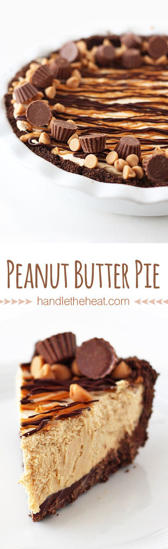 He said this was the BEST pie he ever had! Everyone wanted seconds! Love this peanut butter pie recipe. | Handle the Heat