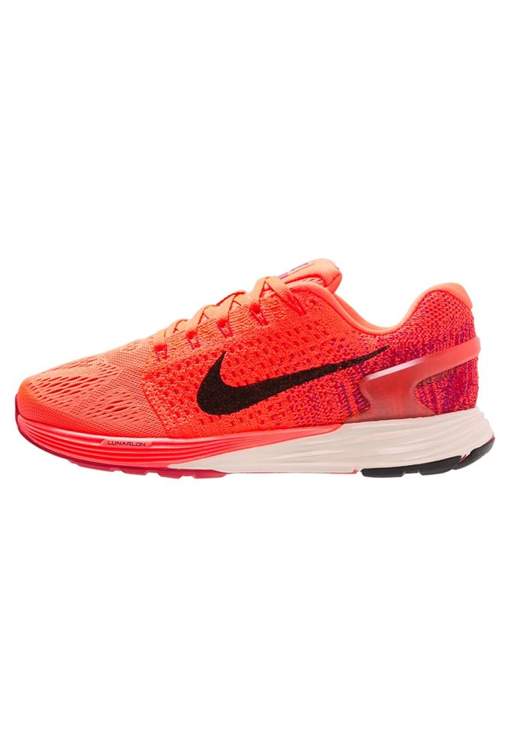Nike Performance LUNARGLIDE 7 - Chaussures de running stables - orange /  noir - ZALANDO.