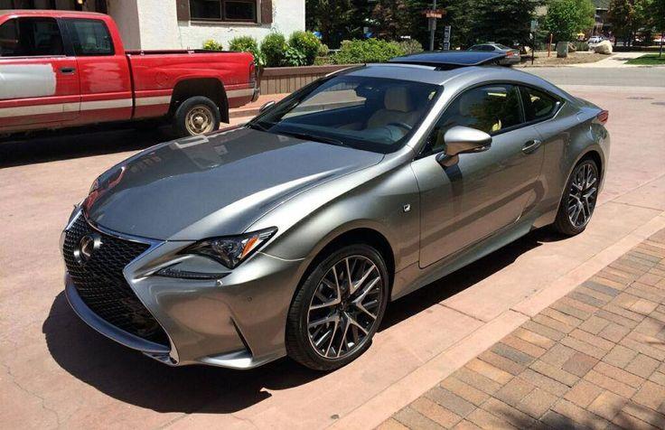 Silver Lexus RC F