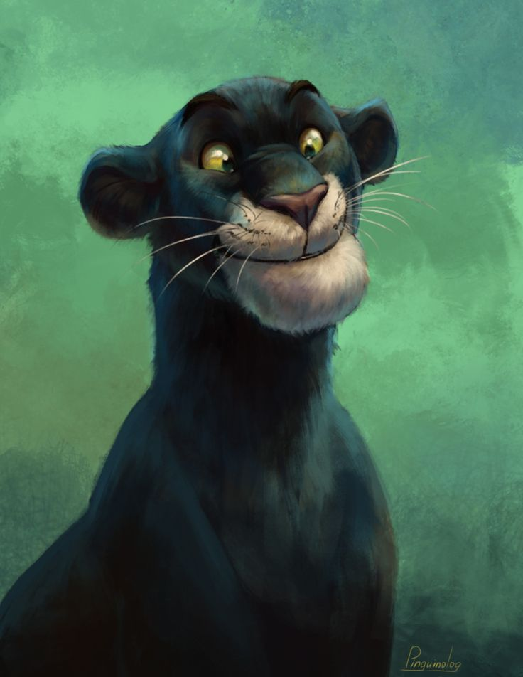 Bagheera redraw, Kate Kazartseva on ArtStation at https://www.artstation.com/artwork/Dm8Bo