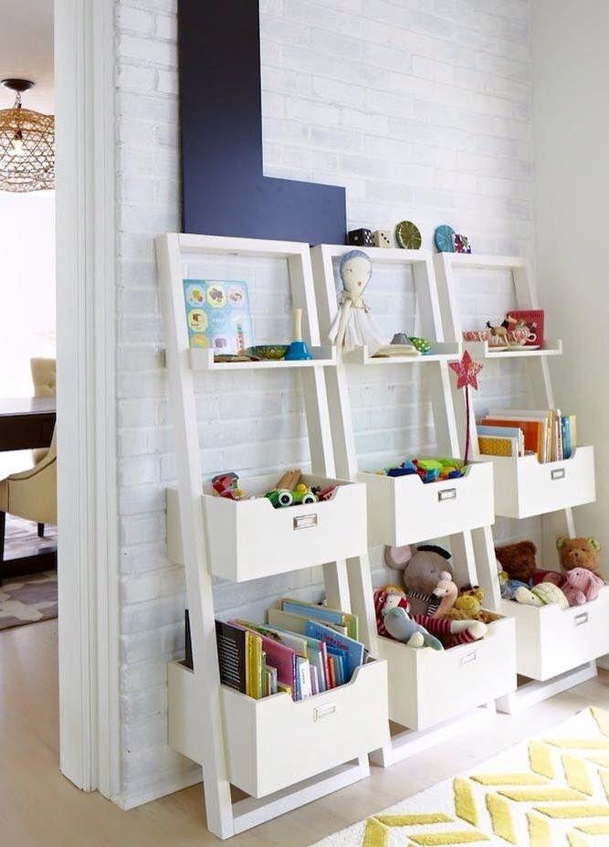 Kids storage shelves