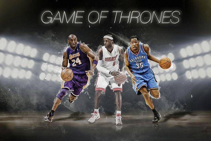 Lebron James Kobe Bryant Kevin Durant Basketball NBA Poster