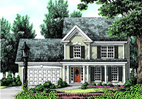 Camden House Plan - A clear focus on family living is the hallmark of this traditional two-story plan.