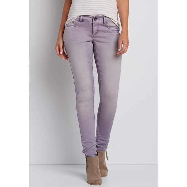 maurices Denimflex™ Jegging In Cloudy Lilac, Women's, Jegging ($39) ❤ liked on Polyvore featuring pants, leggings, cotton leggings, jean leggings, jeggings pants, denim leggings and cotton trousers