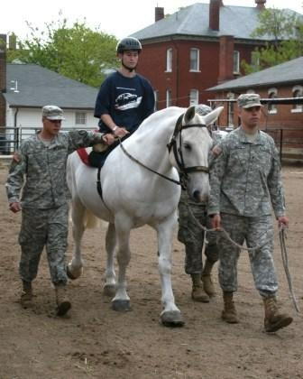 """The Caisson Platoon Equine Assisted Programs is an all volunteer organization that was founded to provide equine assisted therapy to the Wounded Warriors at Walter Reed National Military Medical Center (WRNMMC) at Bethesda, Maryland."""