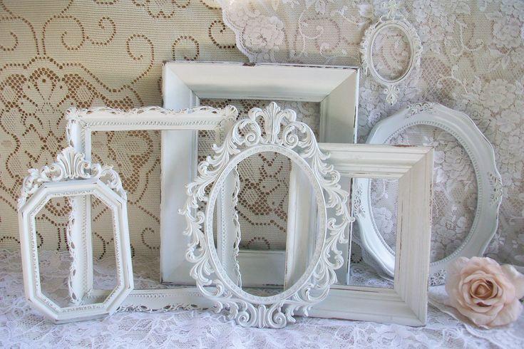 Shabby Chic White Frames