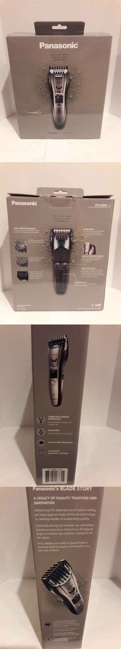 Other Shaving and Hair Removal: Panasonic Beard, Mustache, Hair And Body Electric Trimmer, Silver Er-Gb80-S BUY IT NOW ONLY: $91.25