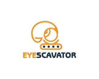 Eyescavator Logo design - Logo design of a excavator shaped like an eye.  Price $299.00