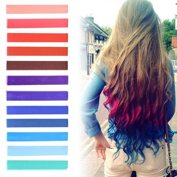 Best DIY Red to Blue Ombre Hair Dye Set of 12 | USA inspired Hair Dye | INDEPENDENCE Hair Dye | with Shades of Raspberry, Red, Pastel Purple and Blue Set of 12 Temporary Hair Chalk | Color your Hair Blue Red Ombre in seconds with temporary HairChalk *** Want additional info? Click on the image.
