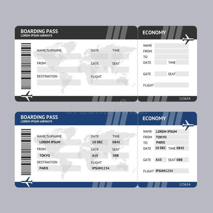 Airline ticket template word corpedocom Virtren.com #SampleResume #AirplaneTicketTemplate