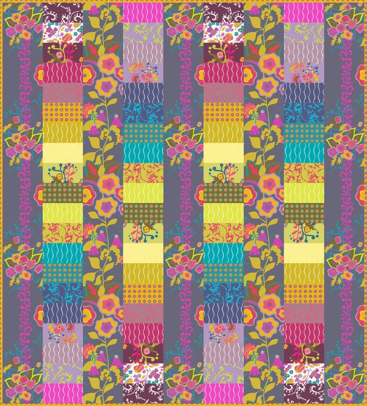 Love Alison Glass's fabrics and patterns