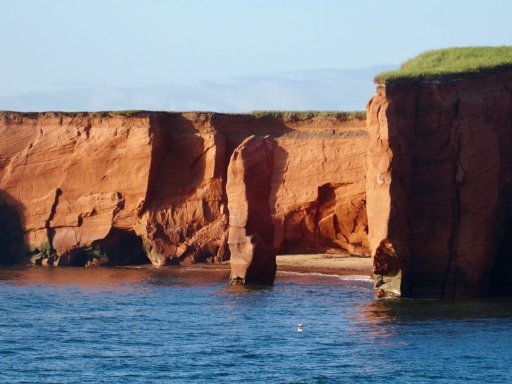 Those red cliffs are just amazing, Magdalen islands