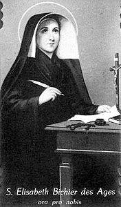 EVANGELIO DEL DIA Santa Juana Isabel Bichier 1773