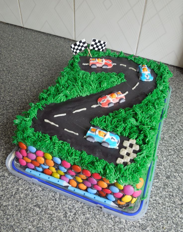 Racing Car Birthday Cake Easy And Yummy Buttercream Icing Craft
