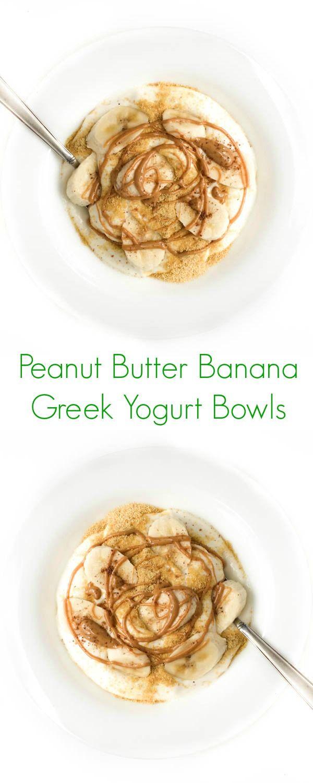 Peanut Butter Banana Greek Yogurt Bowls - The Lemon Bowl