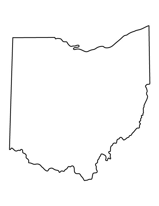 Ohio pattern. Use the printable outline for crafts, creating stencils, scrapbooking, and more. Free PDF template to download and print at http://patternuniverse.com/download/ohio-pattern/