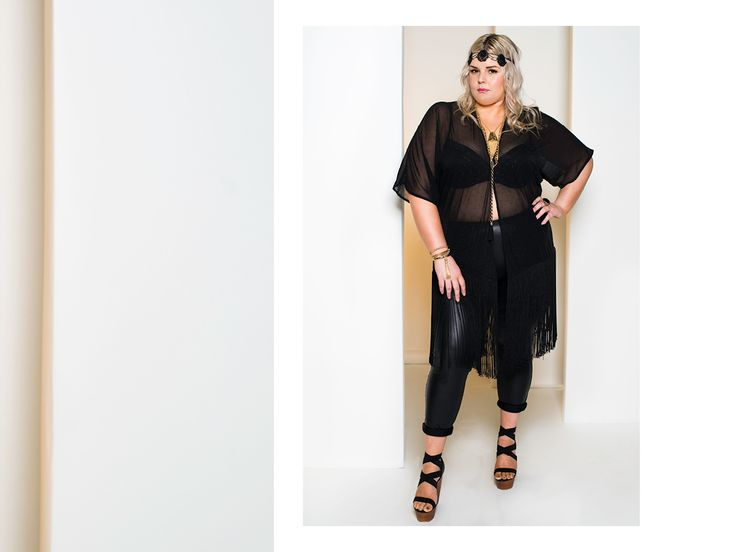 Sweet Freedom kimono $199 worn with wet n wild scuba leggings $99.95  http://www.harlowstore.com/collections/boho/products/sweet-freedom-fringed-kimono-black http://www.harlowstore.com/products/wetn-wild-scuba-leggings  SS14 lookbook  #psfashion #australianmade #harlowlife #harlowlove