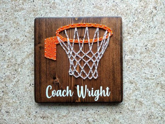 Basketball String Art Sign / Personalized Basketball Coach Gift / Basketball Mom Gifts / Basketball