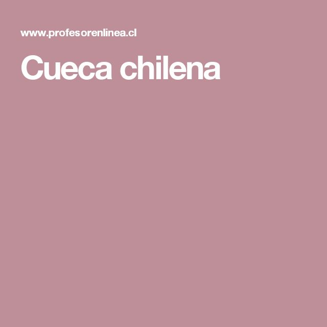 Cueca chilena