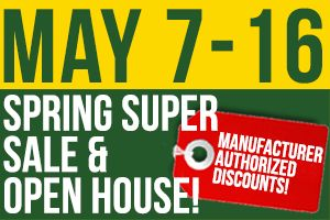 Join us the week of May 7th and check out millions of dollars worth of inventory with Manufacturer discounts! Plus, TONS of free giveaways!