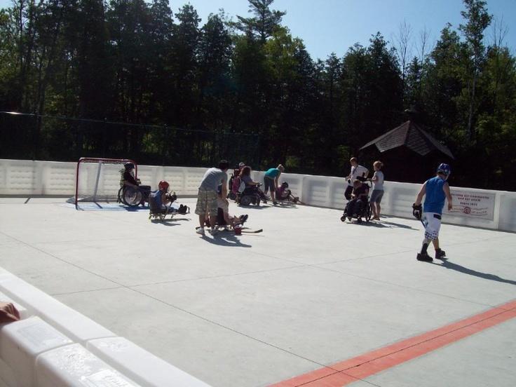 The Optimist sledge hockey rink.