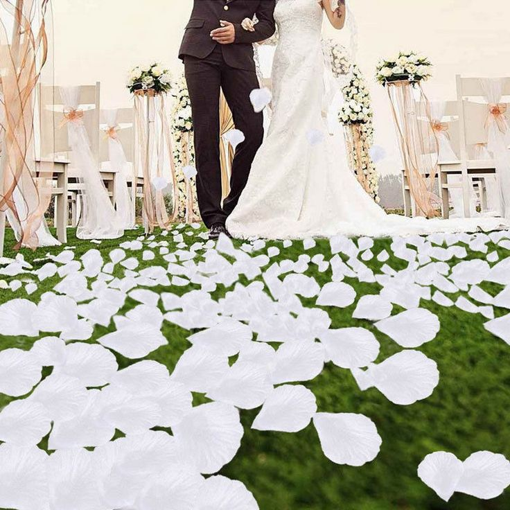 500//1000PCS Flowers Silk Rose Petals Wedding Party Table Confetti Decoration