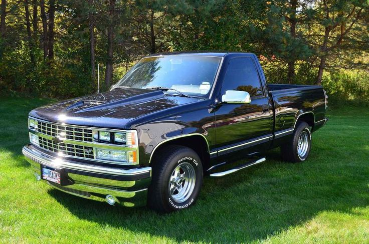 Chevy Truck Pickup Custom Black C1500