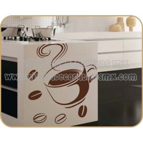 Vinilos decorativos para cocina 17 taza de cafe - Vinilos decorativos para cocina ...