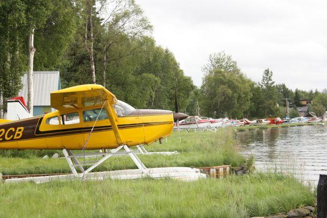 Lake Hood Sea Plane Base In Anchorage Alaska