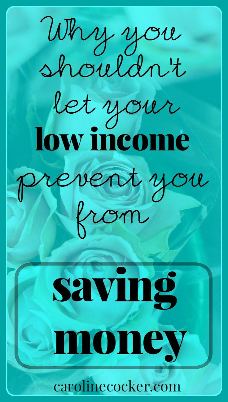 So you want to save money but don't think you earn enough money to do so. Click throughand find out why it's most important for those of us on low incomes to save a bit of money