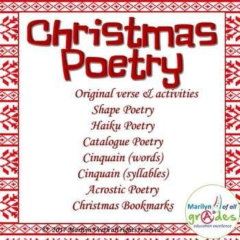 Christmas Poetry Unit, Worksheets & Activities.