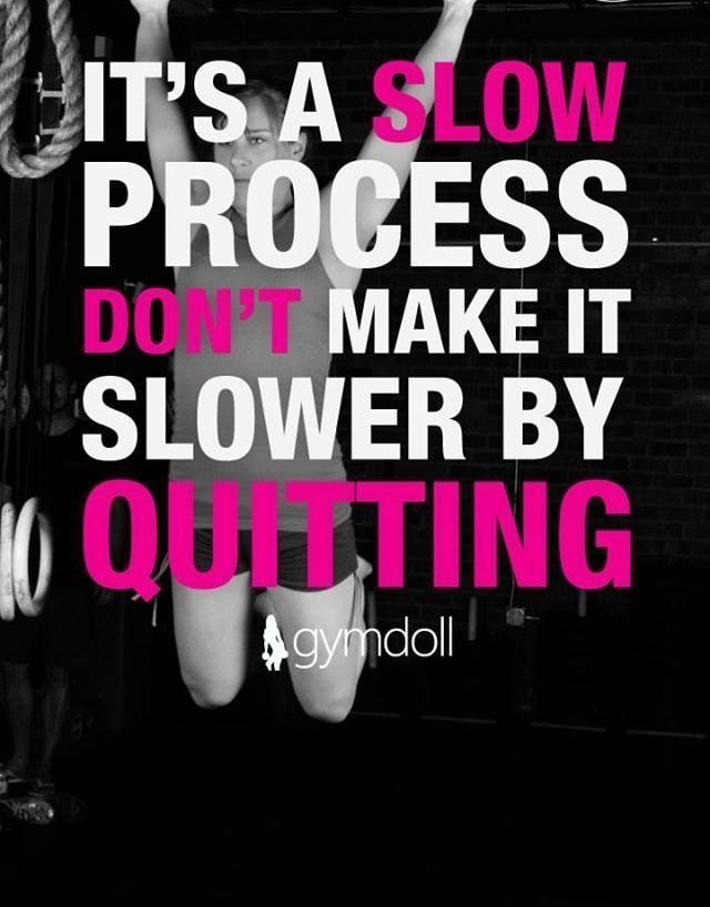 Many quit due to slow progress, because they don't realize slow progress is PROGRESS!  #weightloss #quote #motivationalquote #weightlossquote