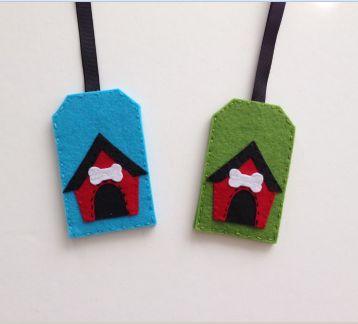Köpek Kulübesi Figürlü Valiz Etiketleri