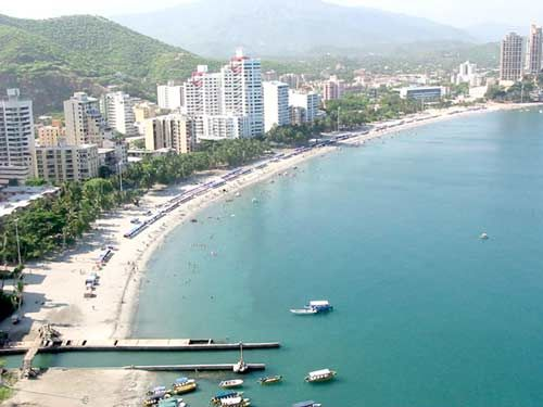 Santa Marta, Colombia. We had one of these condos with a gorgeous up-front view of endless azure. I was on a medical missions trip with Project Compassion and 16.