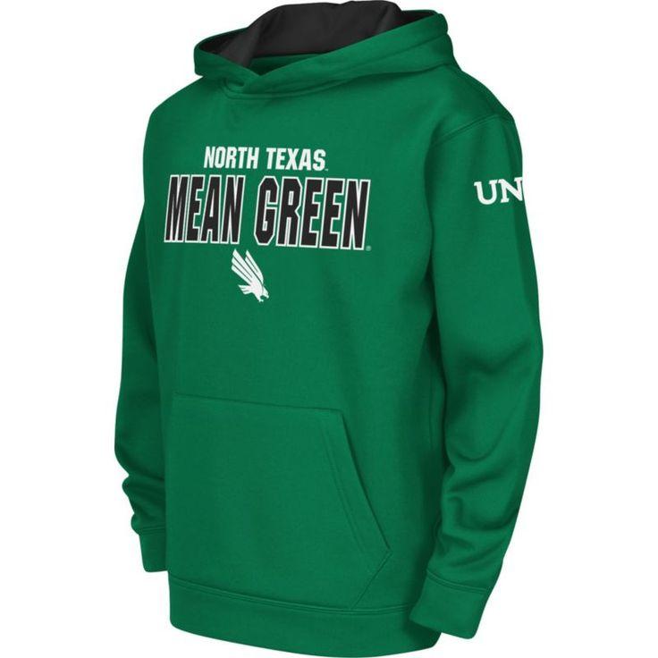 Colosseum Youth North Texas Mean Green Green Fleece Hoodie, Size: Medium, Team